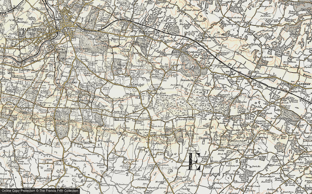 Old Map of Historic Map covering Abbey Wood in 1897-1898