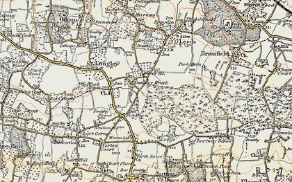 Old map of Abbey Wood in 1897-1898