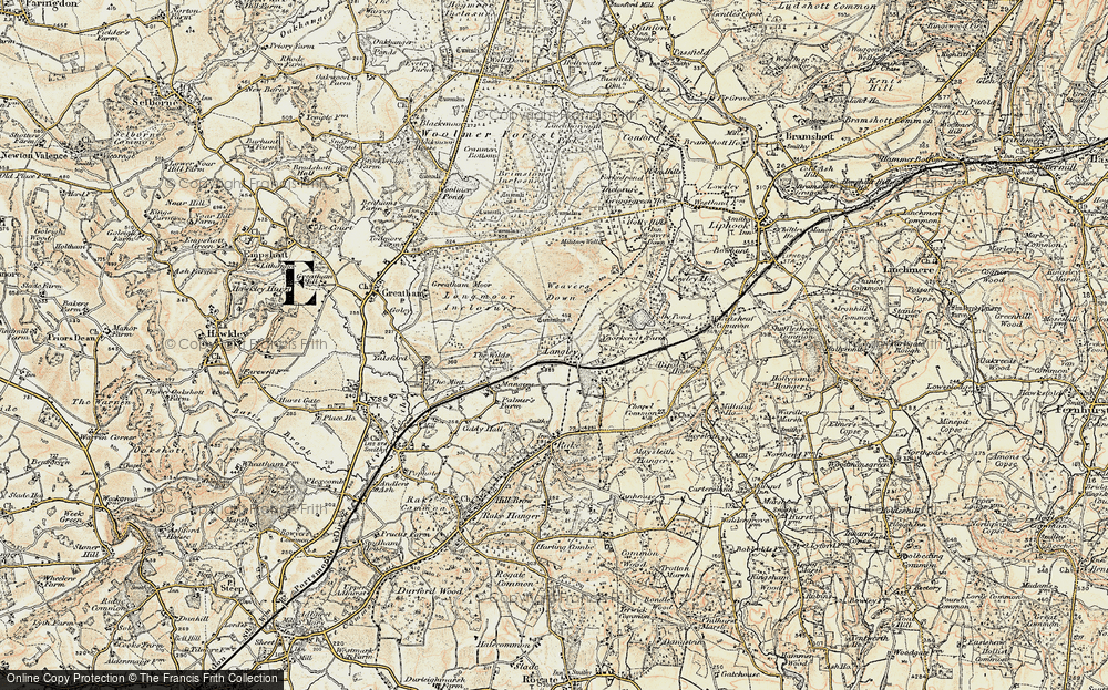 Old Map of Historic Map covering Langley Court in 1897-1900
