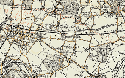 Old map of Langley in 1897-1909