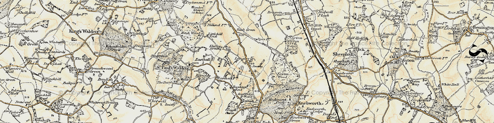 Old map of Langley in 1898-1899