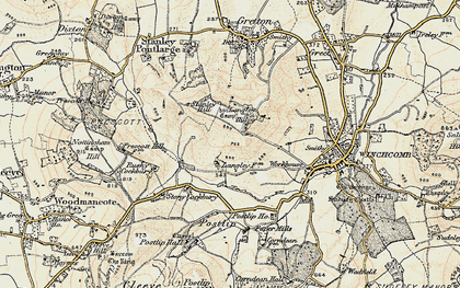 Old map of Langley Hill in 1899-1900