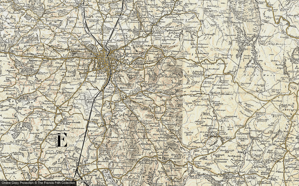 Old Map of Langley, 1902-1903 in 1902-1903