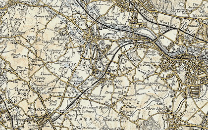 Old map of Langley in 1902