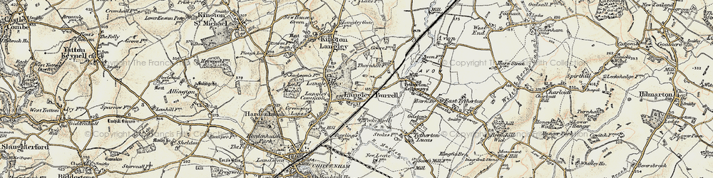 Old map of Langley Ho in 1898-1899