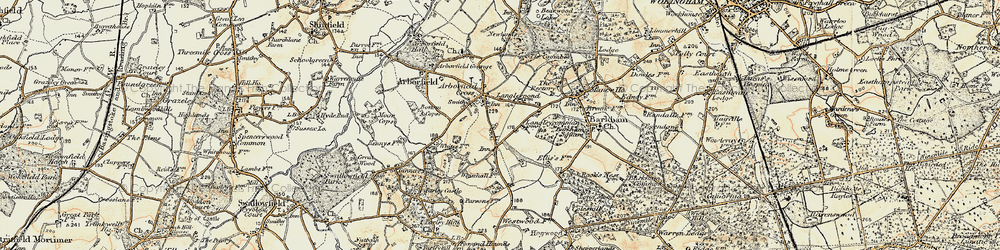 Old map of Langley Common in 1897-1909