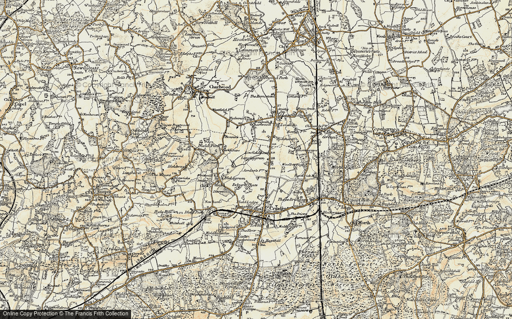 Old Map of Langley Green, 1898-1909 in 1898-1909