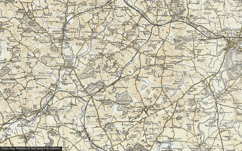 Old Map of Langley Green, 1899-1902 in 1899-1902