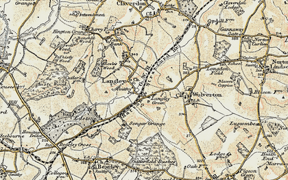 Old map of Langley Green in 1899-1902