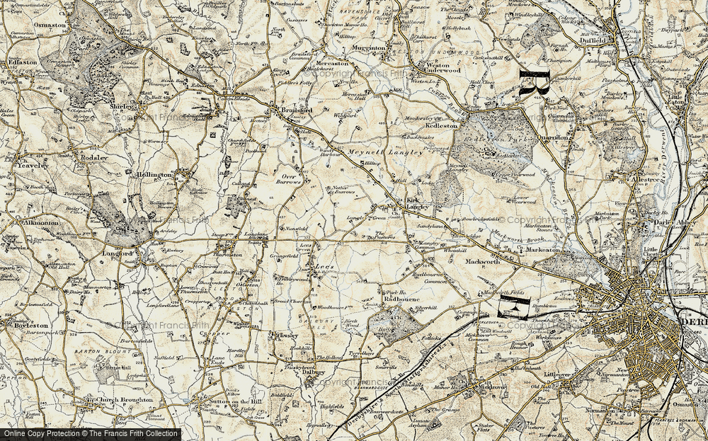 Old Map of Langley Green, 1902 in 1902