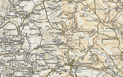 Old map of Langley Marsh in 1898-1900