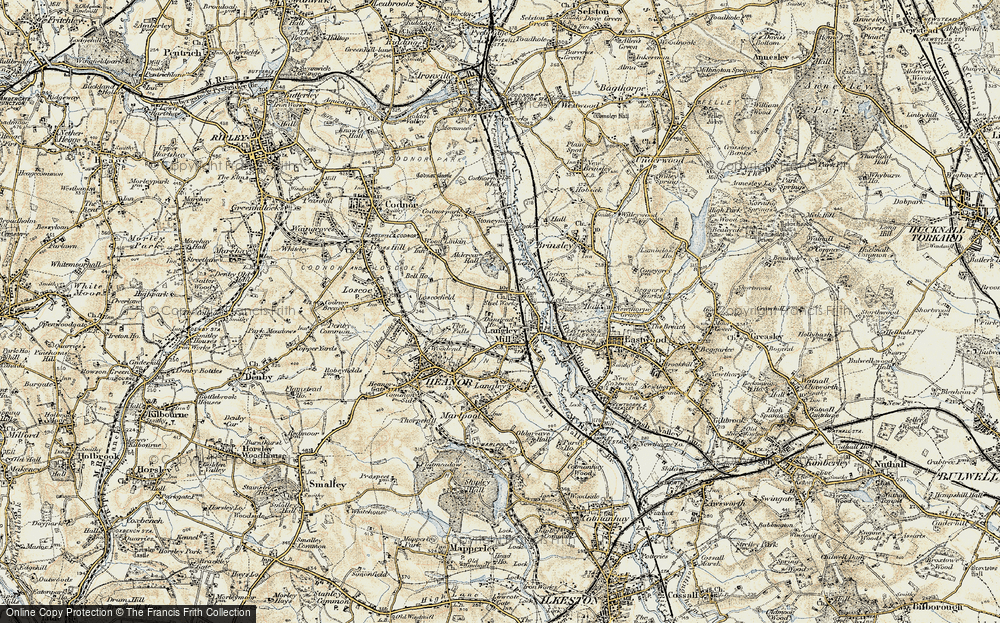 Old Map of Langley Mill, 1902 in 1902