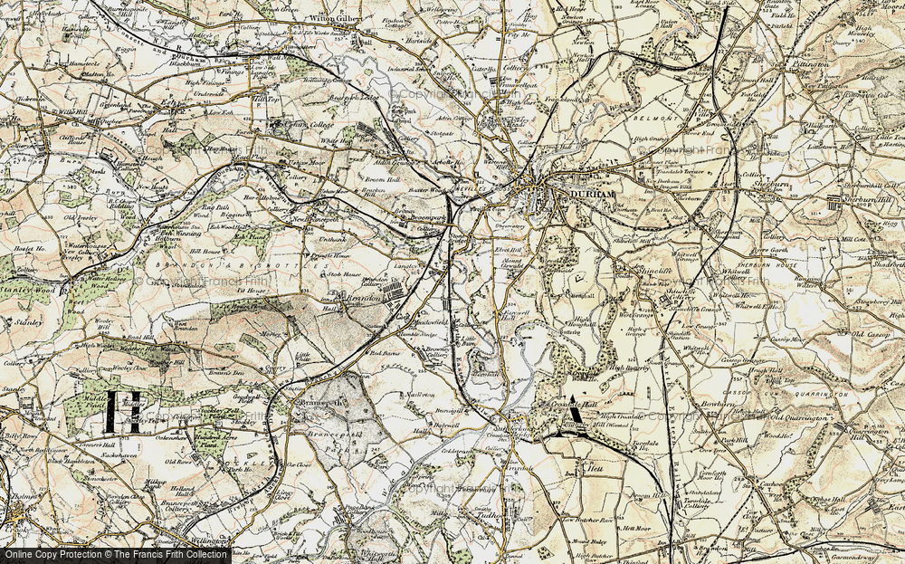 Old Map of Langley Moor, 1901-1904 in 1901-1904