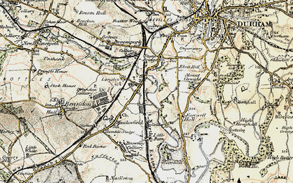 Old map of Langley Moor in 1901-1904