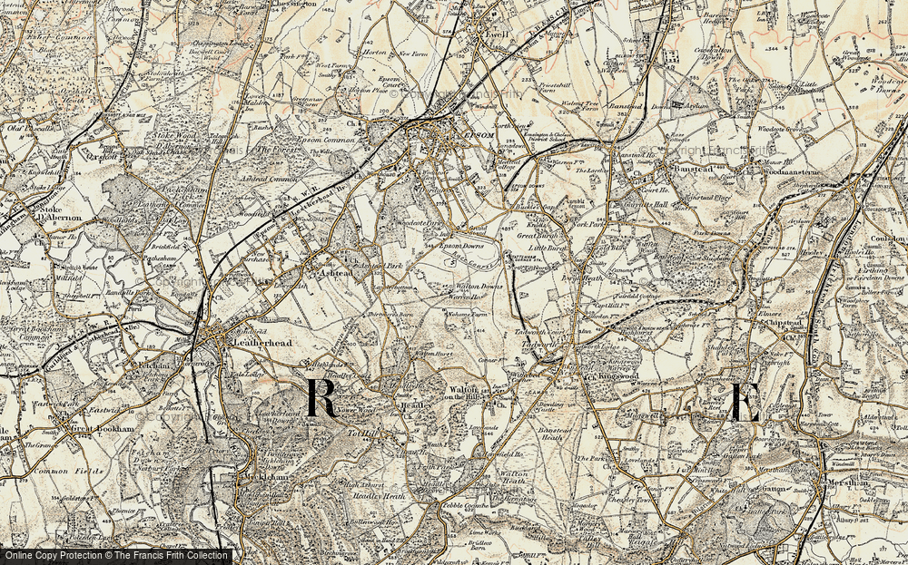 Old Map of Langley Vale, 1897-1909 in 1897-1909
