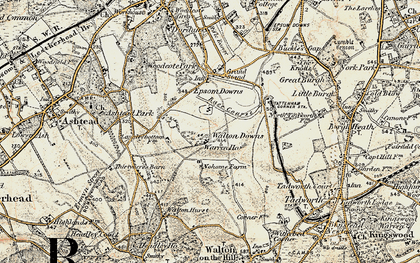 Old map of Langley Vale in 1897-1909