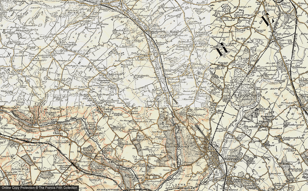 Old Map of Langleybury, 1897-1898 in 1897-1898
