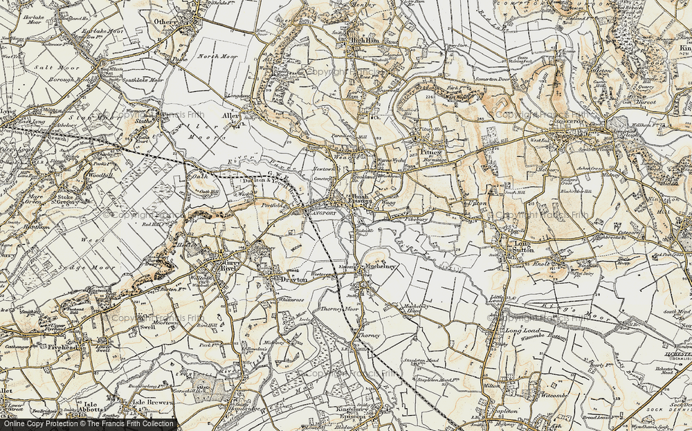 Old Map of Langport, 1898-1900 in 1898-1900