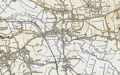 Old map of Langport in 1898-1900