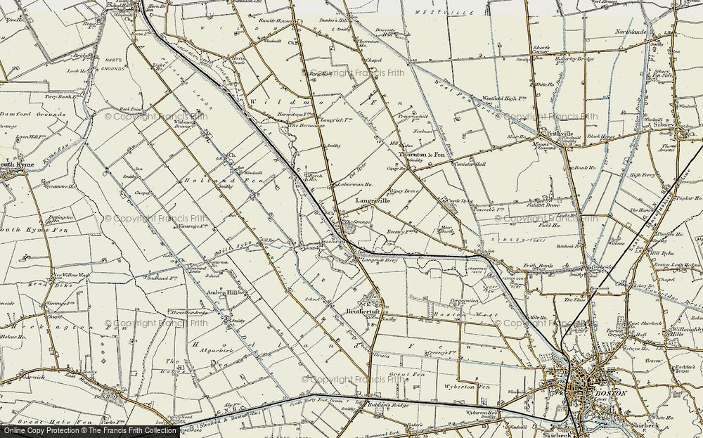 Old Map of Langrick, 1902-1903 in 1902-1903