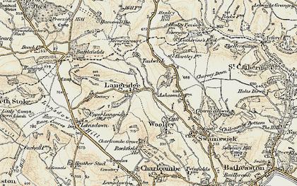 Old map of Langridge Ho in 1899