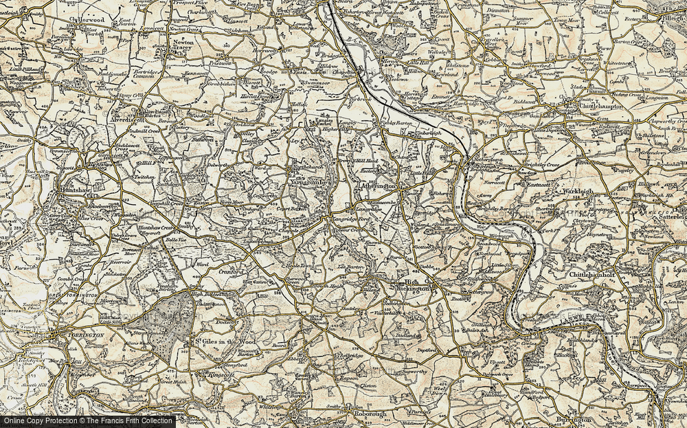 Old Map of Langridgeford, 1899-1900 in 1899-1900
