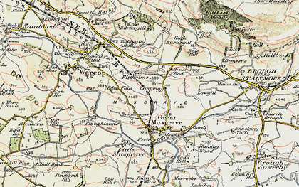 Old map of Langrigg in 1903-1904
