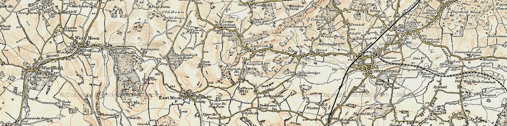 Old map of Langrish in 1897-1900