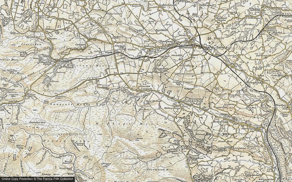 Old Map of Langsett, 1903 in 1903