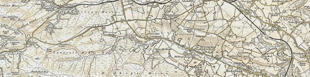 Old map of Langsett in 1903