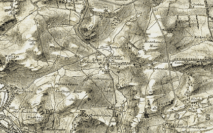 Old map of Langshaw in 1901-1904