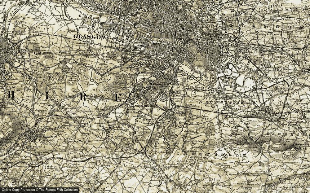 Old Map of Langside, 1904-1905 in 1904-1905