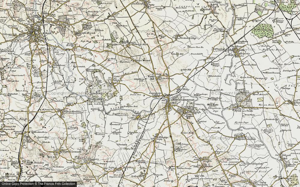 Old Map of Langthorpe, 1903-1904 in 1903-1904