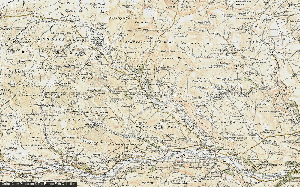 Old Map of Langthwaite, 1903-1904 in 1903-1904