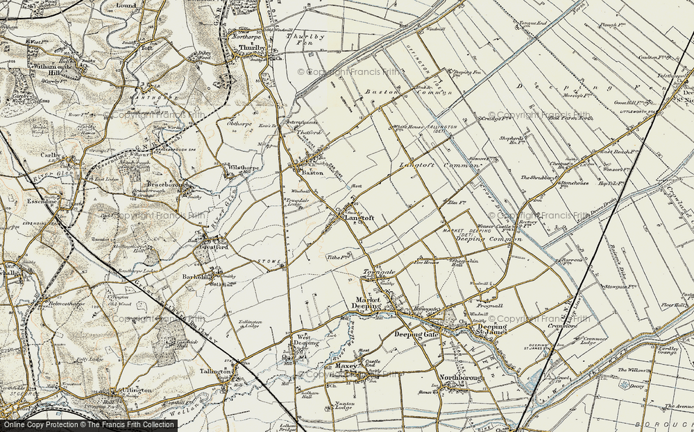 Old Map of Langtoft, 1901-1902 in 1901-1902