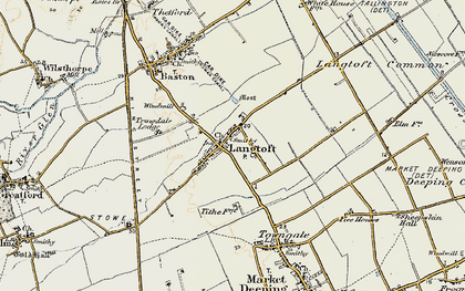 Old map of Willowfield in 1901-1902