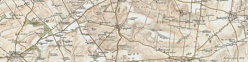 Old map of Woodbine Cott in 1903-1904