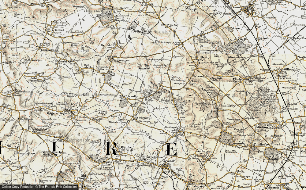 Old Map of Langton, 1902-1903 in 1902-1903