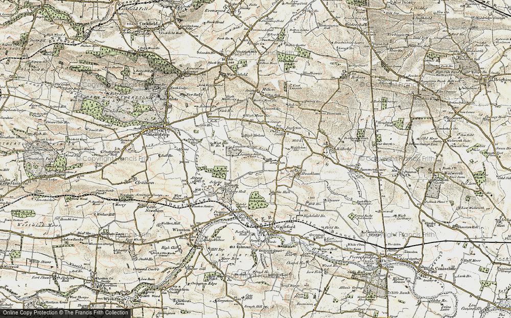Old Map of Langton, 1903-1904 in 1903-1904