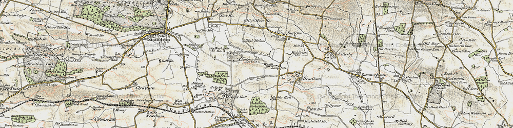 Old map of Alwent Hall in 1903-1904