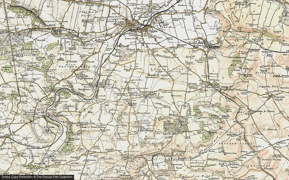 Old Map of Historic Map covering Whitegrounds in 1903-1904