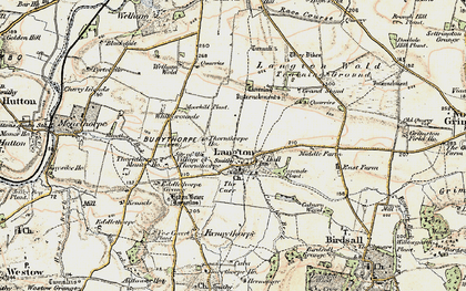 Old map of Langton Wold in 1903-1904