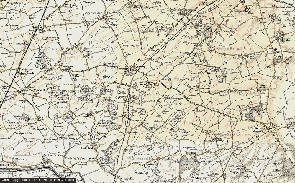 Old Map of Langton by Wragby, 1902-1903 in 1902-1903