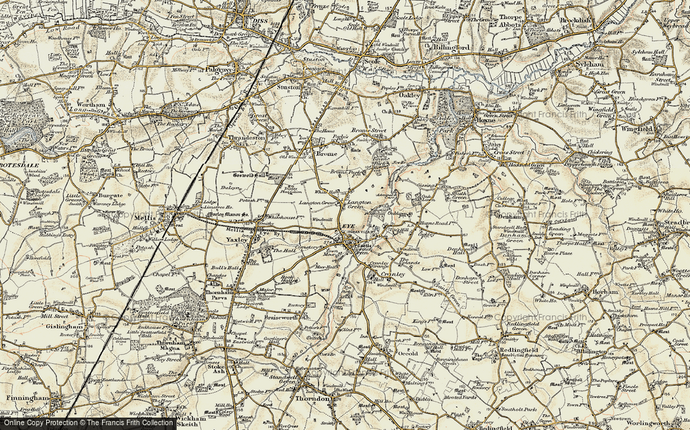 Old Map of Langton Green, 1901-1902 in 1901-1902