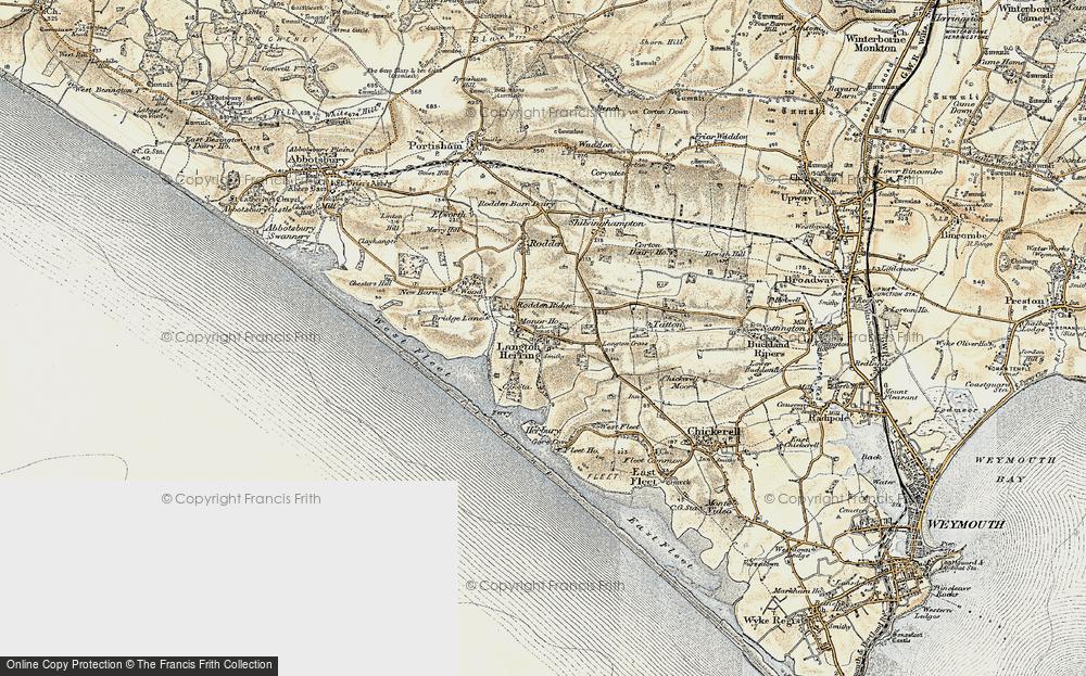 Old Map of Langton Herring, 1899 in 1899