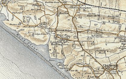 Old map of Langton Cross in 1899