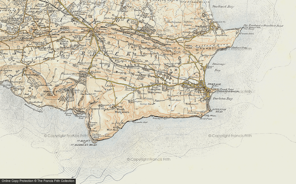 Old Map of Historic Map covering Leeson Ho in 1899-1909