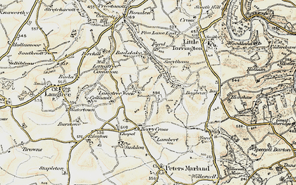Old map of Bagbear in 1900