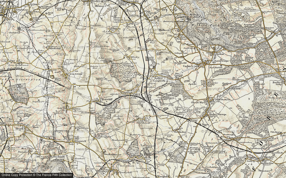 Old Map of Langwith, 1902-1903 in 1902-1903