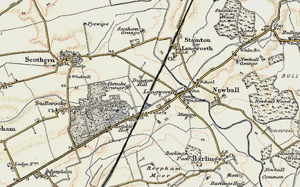 Old map of Langworth in 1902-1903